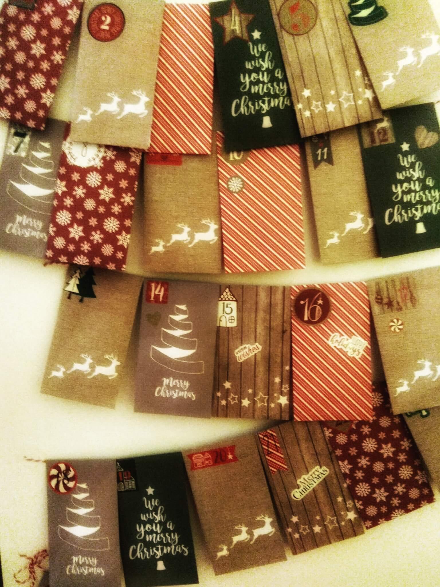 originální vánoční kalendář diy