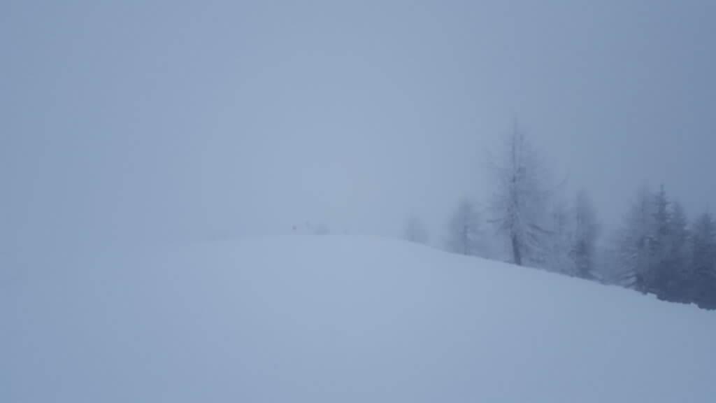 Mlha na Sella Ronda